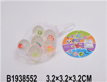 6PCS 3.2CM BOUNCING BALL