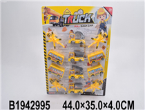 12PCS PULL BACK CONSTRUCTION CAR&PLANE