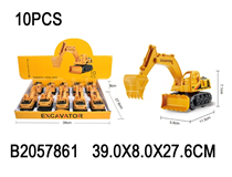 10PCS FRICTION CONSTRUCTION CAR